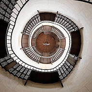 Spiraltrappa i Jagdschloss Granitz.