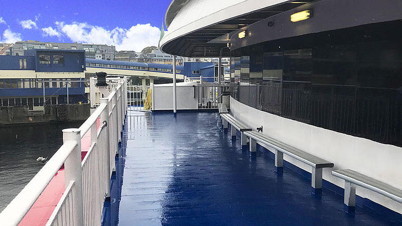 Outdoor area of the High Speed Ferry.