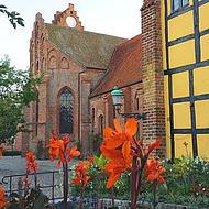 Blick auf das Kloster in Ystad.
