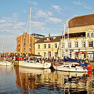 Hamnen i Stralsund.