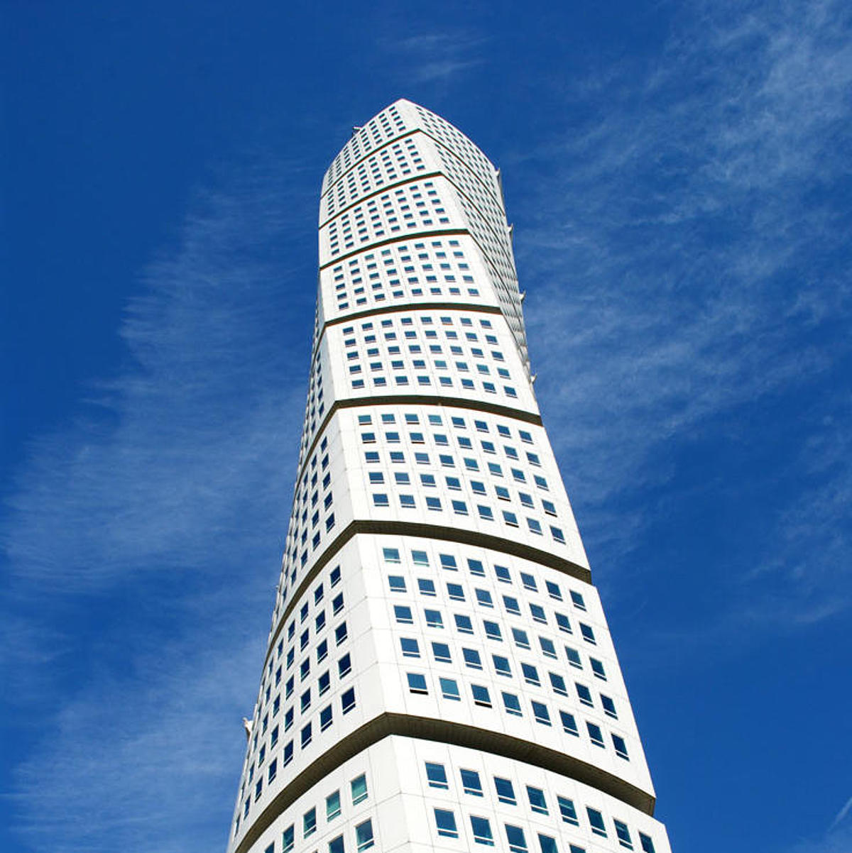 The Turning Torso Malmö from below.